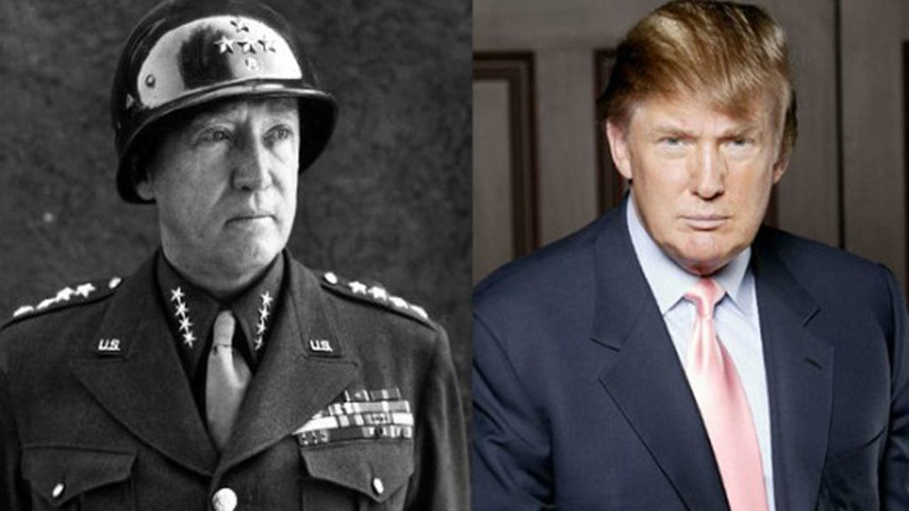 El general George Patton y el multimillonario Donald Trump