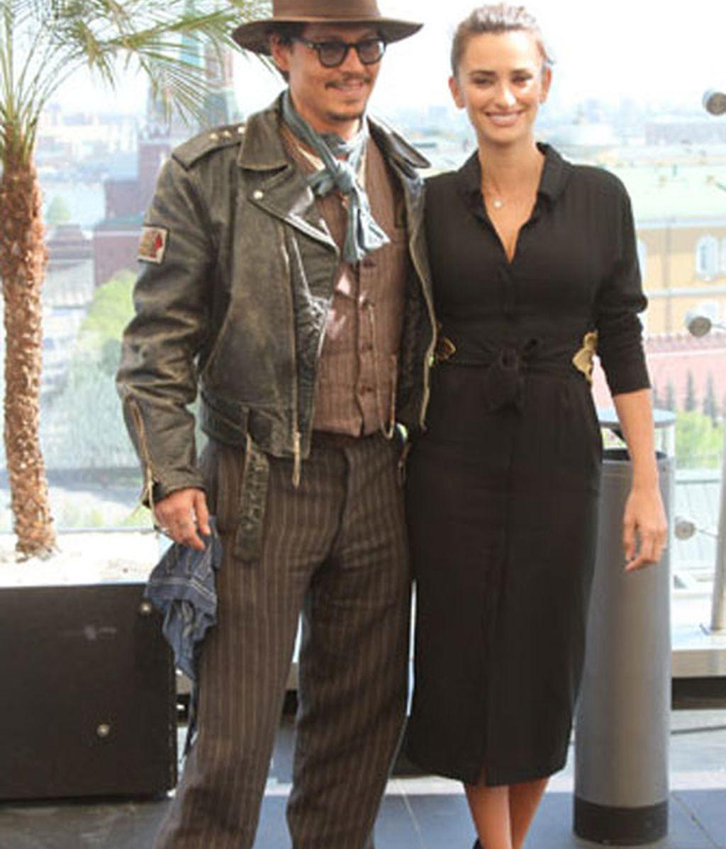 Johny Depp y Penélope Cruz