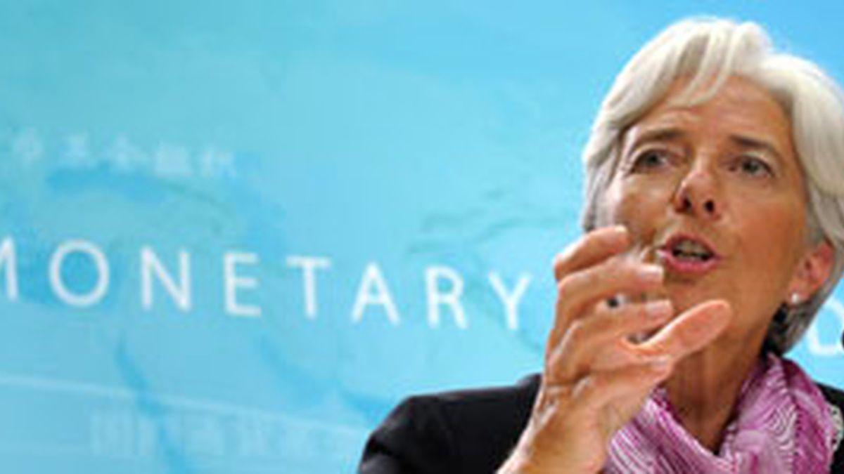 Christine Lagarde, durante su primera comparecencia como directora gerente del FMI el pasado junio. Foto: Gtres.