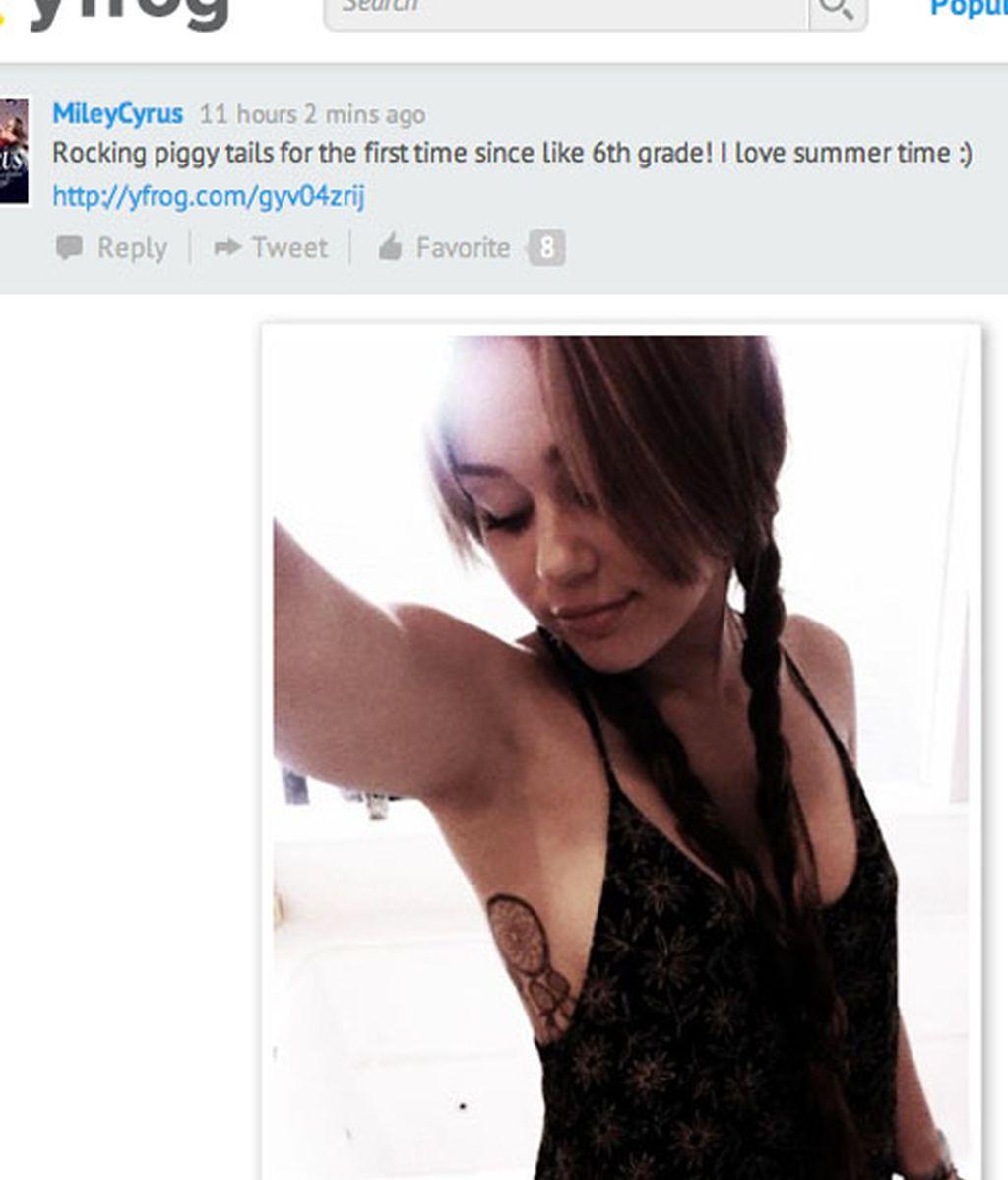 Miley Cyrus y su nuevo tatuaje