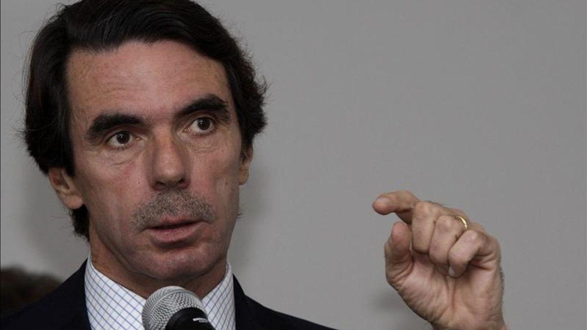 El ex presidente del Gobierno José María Aznar. EFE/Archivo