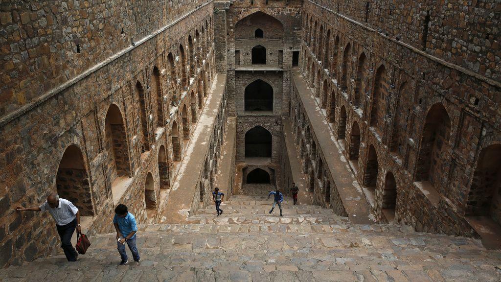 Escalinata en Nueva Delhi