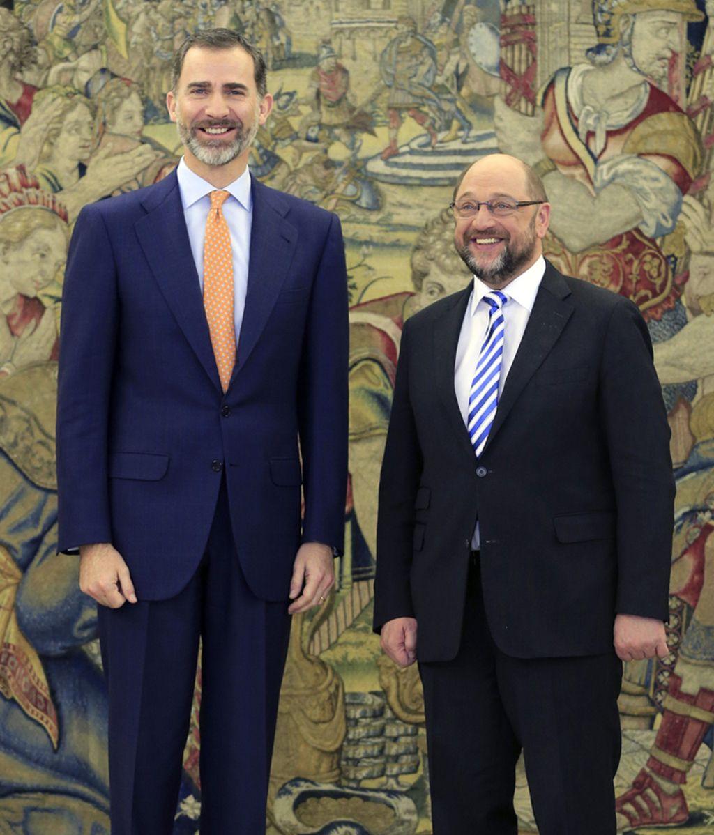 El Rey recibe a Martin Schulz