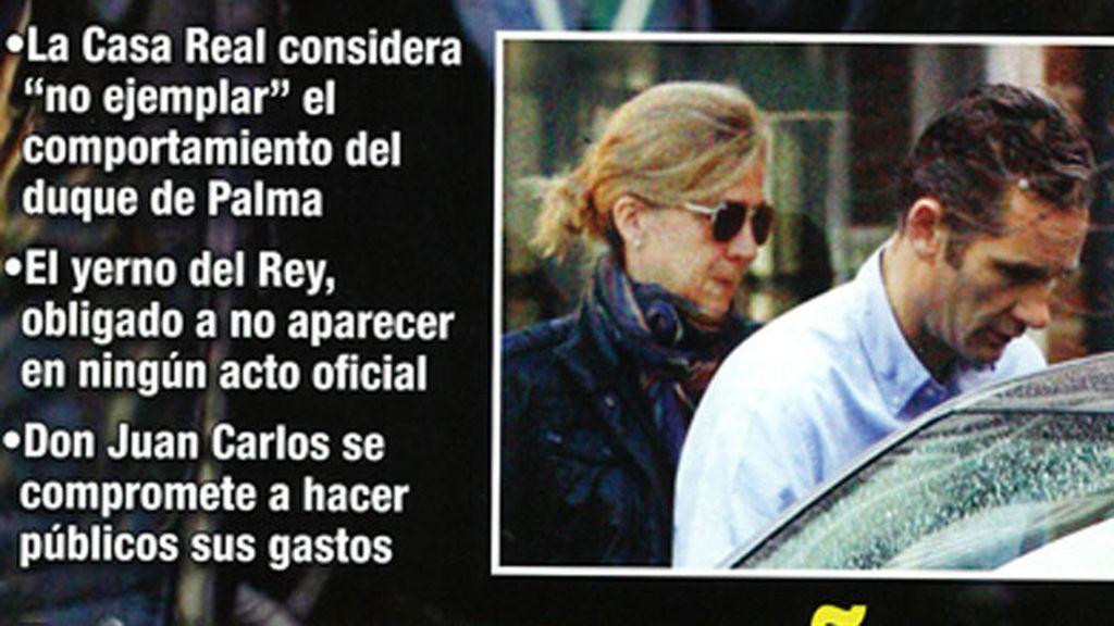 La Casa Real ha apartado a Iñaki Urdangarín de los actos oficiales