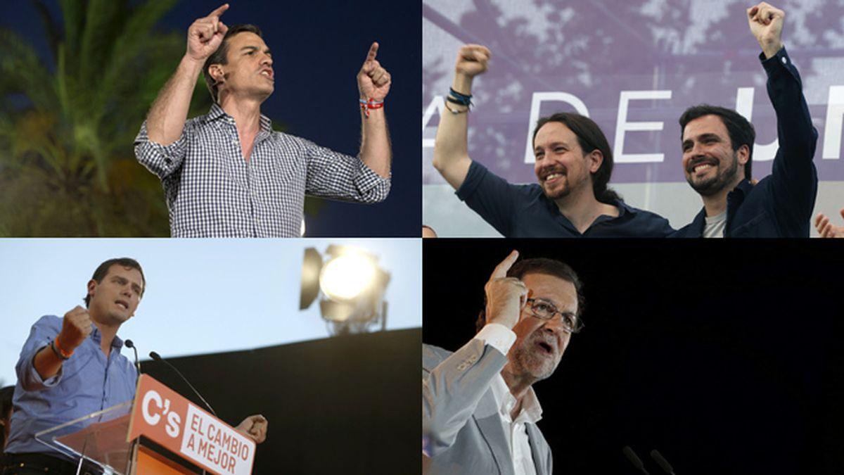 Los principales candidatos a la Presidencia del Gobierno cierran la campaña electoral