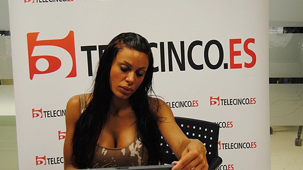 Tatiana visita telecinco.es