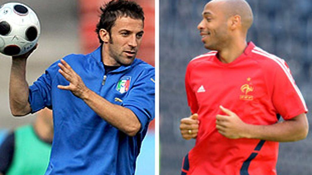 Del Piero y Henry serán titulares. FOTOS: EFE.