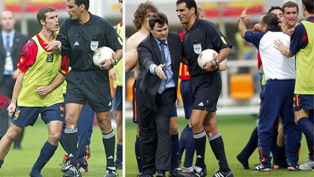 Dos goles anulados a España (Corea-Japón 2002)