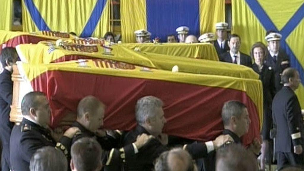 Acto fúnebre en Rota