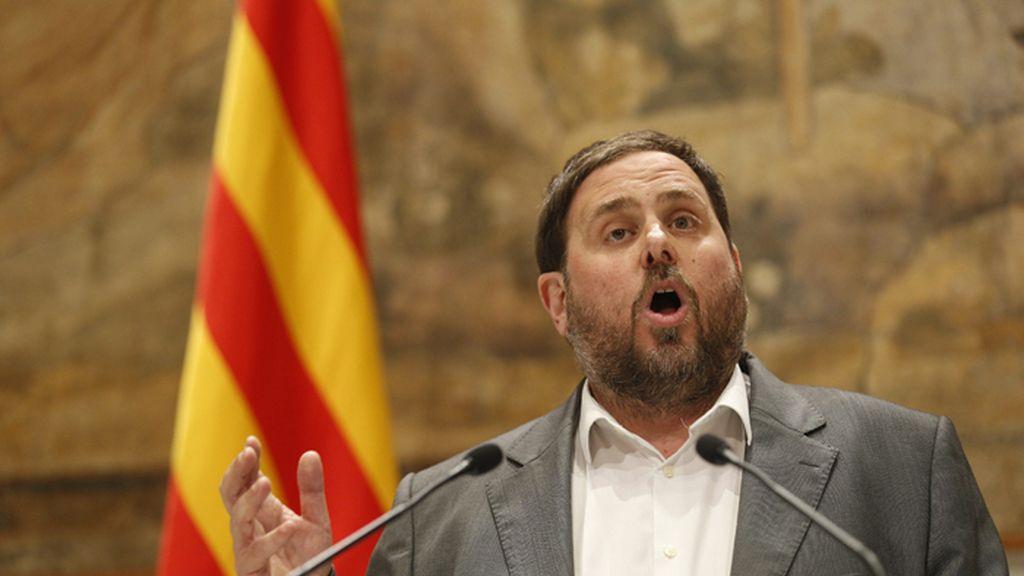 Oriol Junqueras explica su pacto con Mas para el adelanto electoral en Cataluña