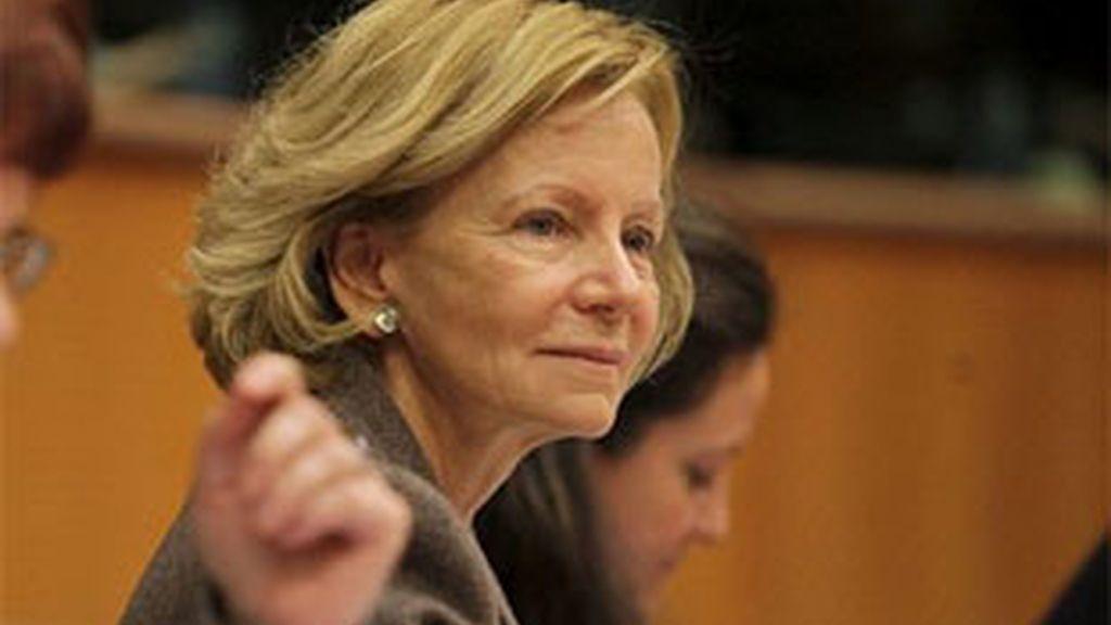Imagen de archivo de la vicepresidenta segunda del Gobierno, Elena Salgado. Foto: EFE.