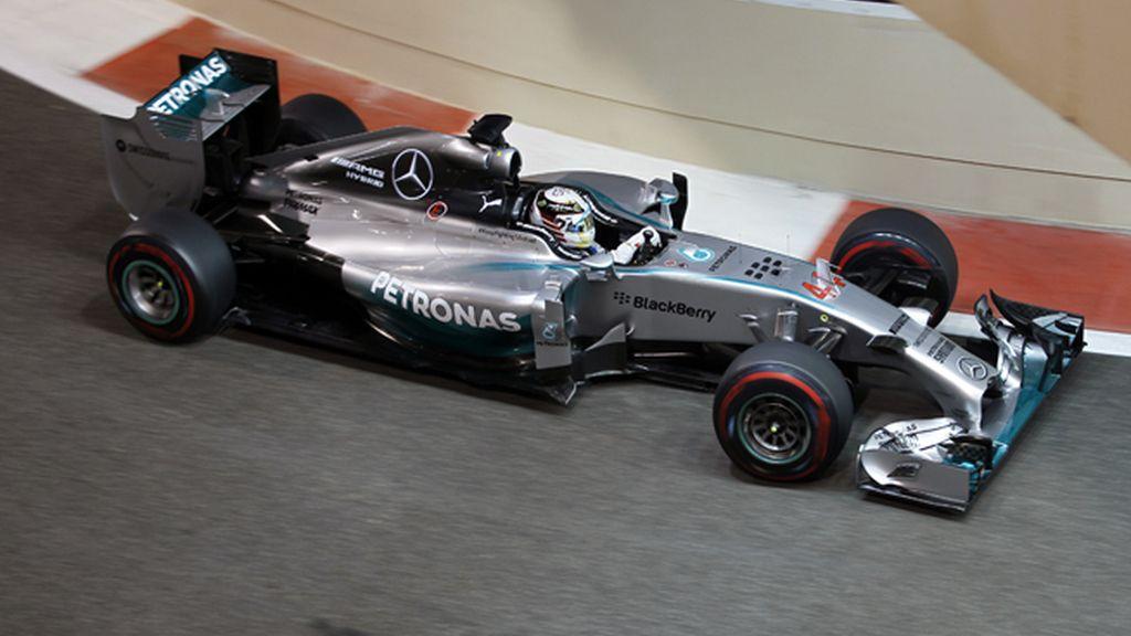 Lewis Hamilton en el Gran Premio Abu Dhabi
