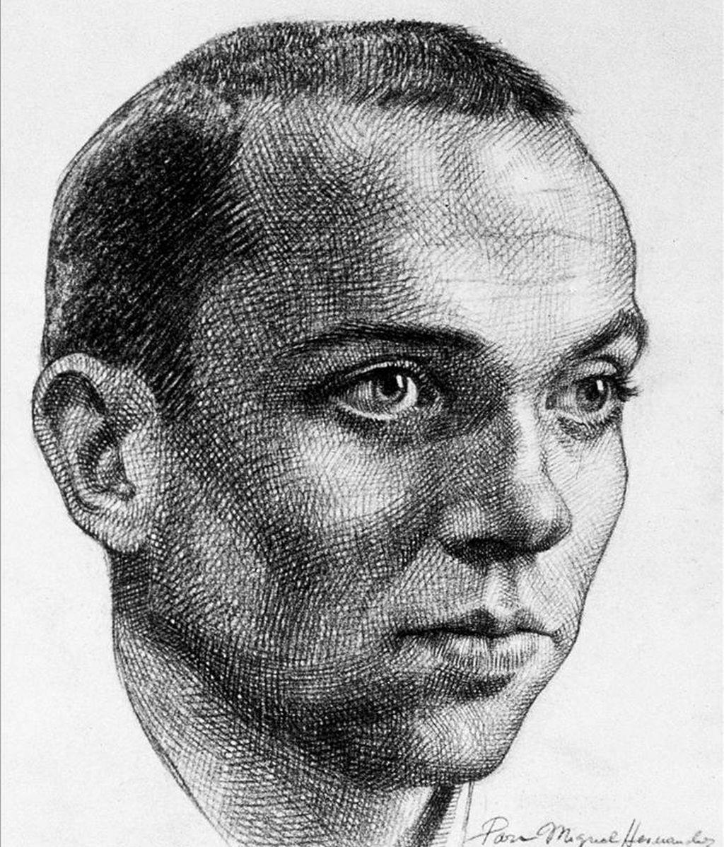 Retrato a lápiz de Miguel Hernández. EFE/Archivo