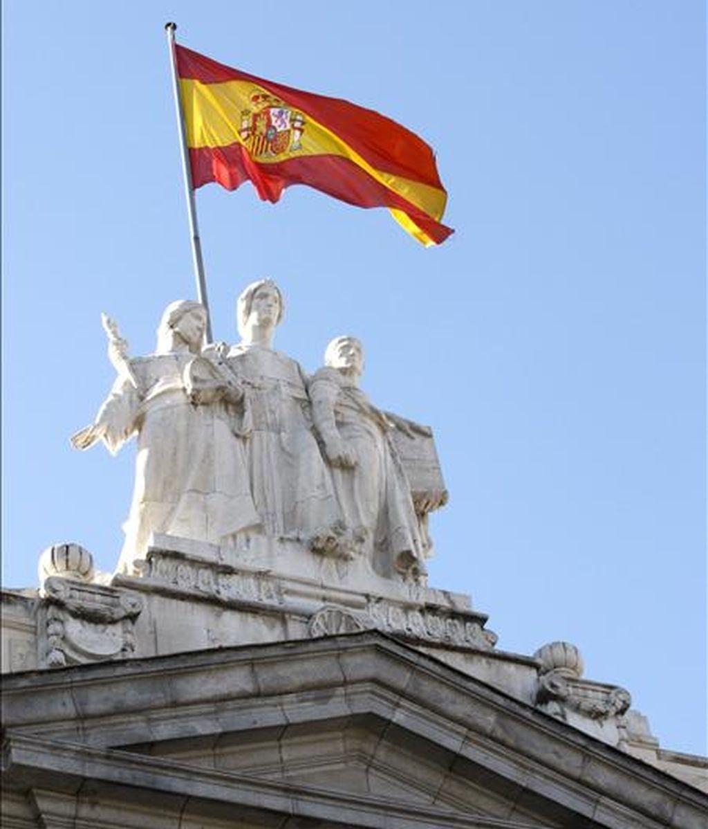 Detalle escultórico de la fachada principal del Tribunal Supremo, en Madrid. EFE/Archivo