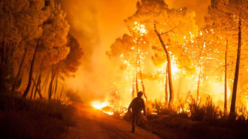 Incendio incontrolado en León