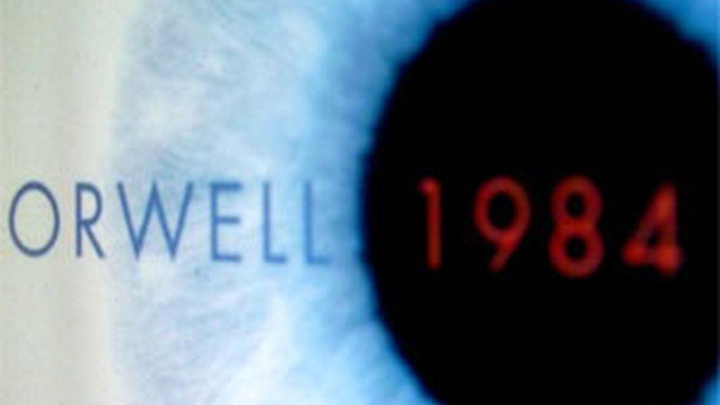 Imagen de la portada del libro de Orwell, 1984.