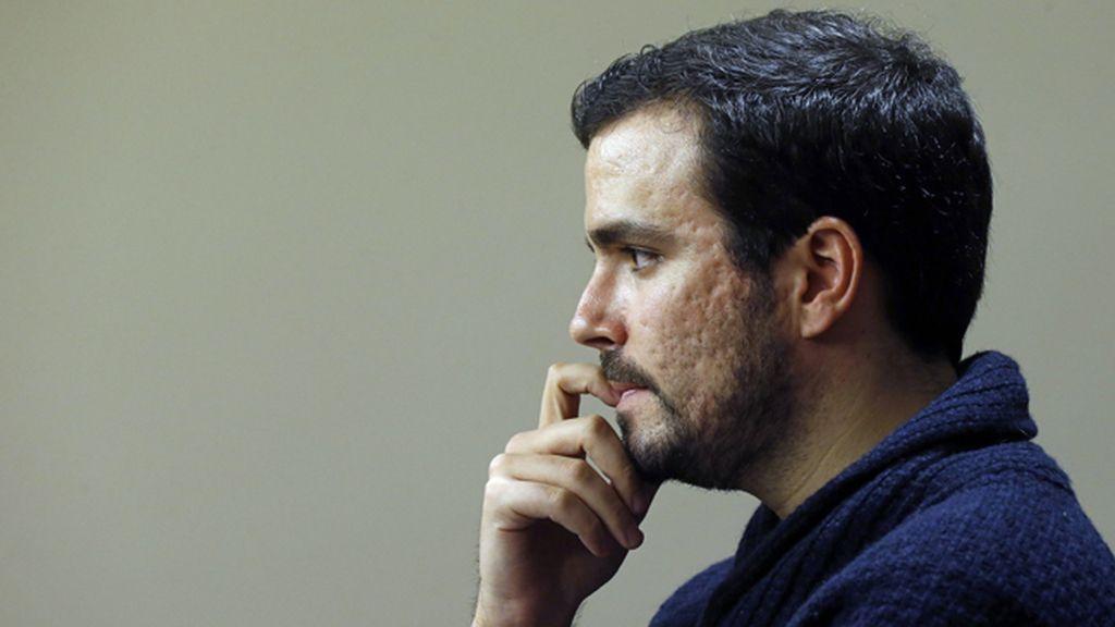 El portavoz de Izquierda Unida-Unidad Popular (IU-UP) en el Congreso, Alberto Garzón