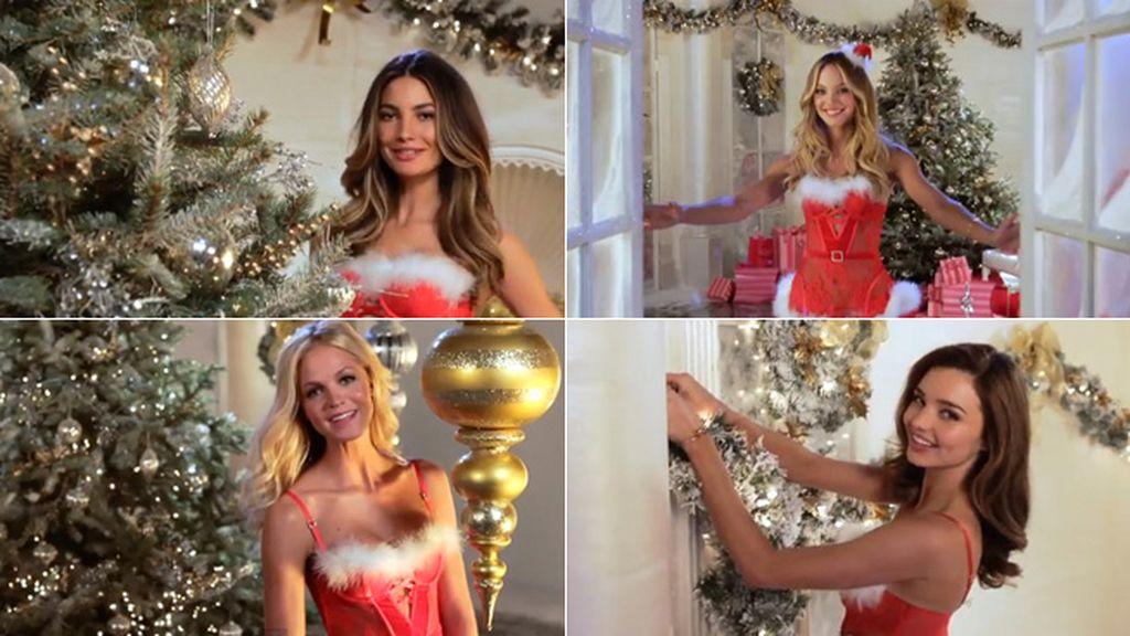 Los angelitos de Victoria's Secret cuelgan sus alas por Navidad