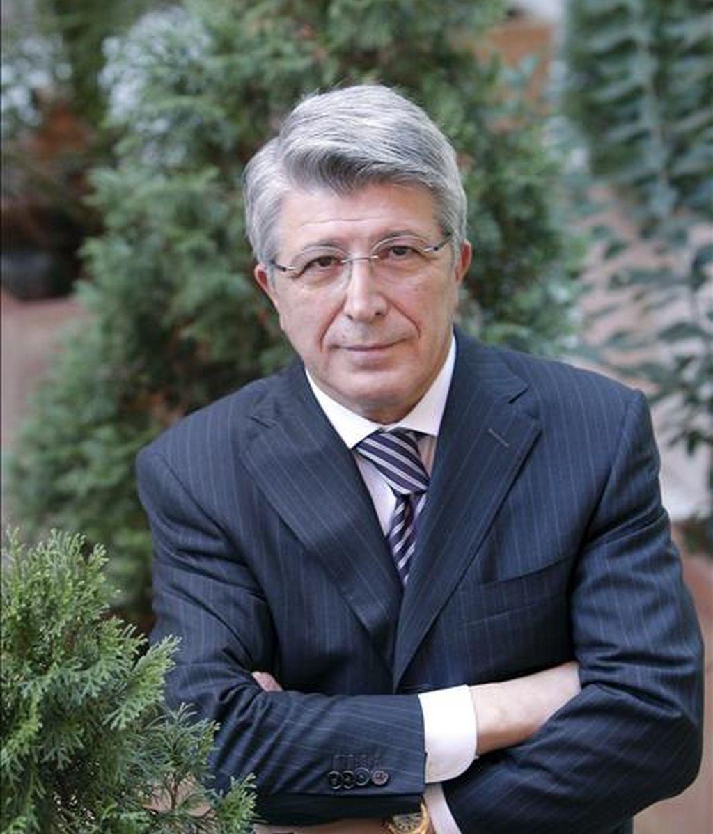 El presidente del Atlético de Madrid, Enrique Cerezo. EFE/Archivo