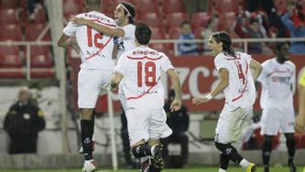 El Sevilla celebra un gol. Foto: Gtres