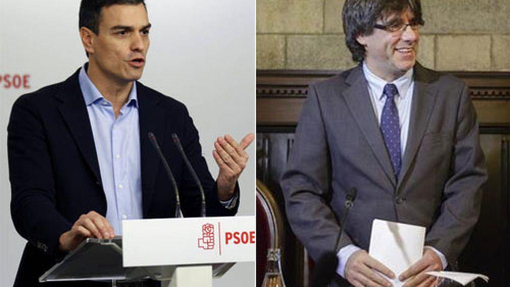 Sánchez traslada a Puigdemont su determinación de reformar la Constitución