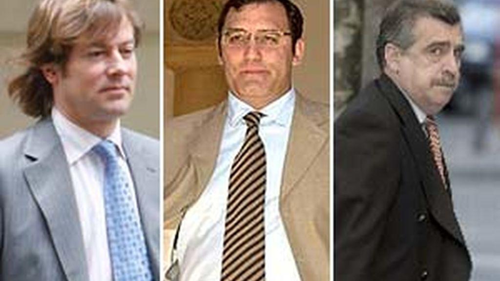 Los jueces Pedraz, Velasco y Moreno, en imágenes de archivo.