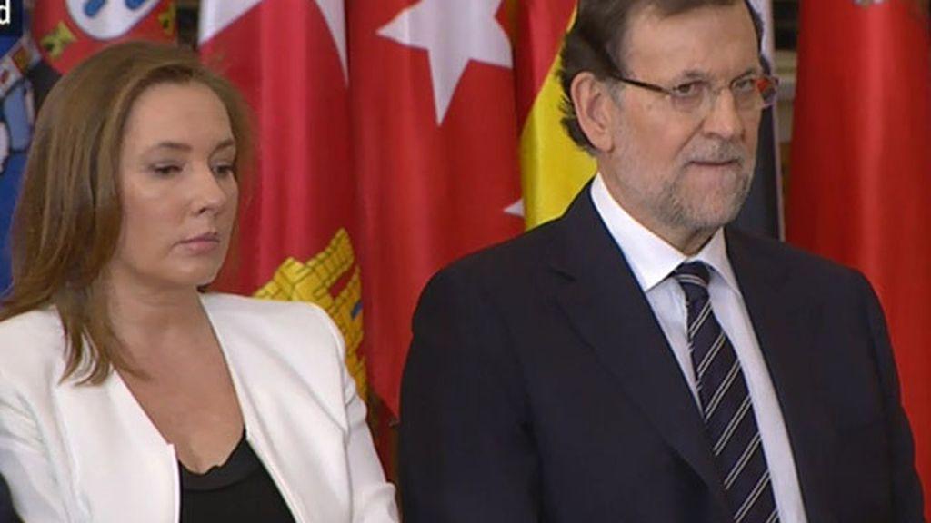 El presidente del Gobierno, Mariano Rajoy, y su mujer, Elvira Fernández Balboa