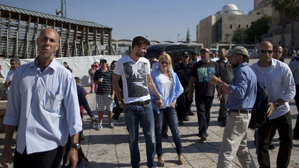 Shakira y Piqué, peregrinos en Tierra Santa