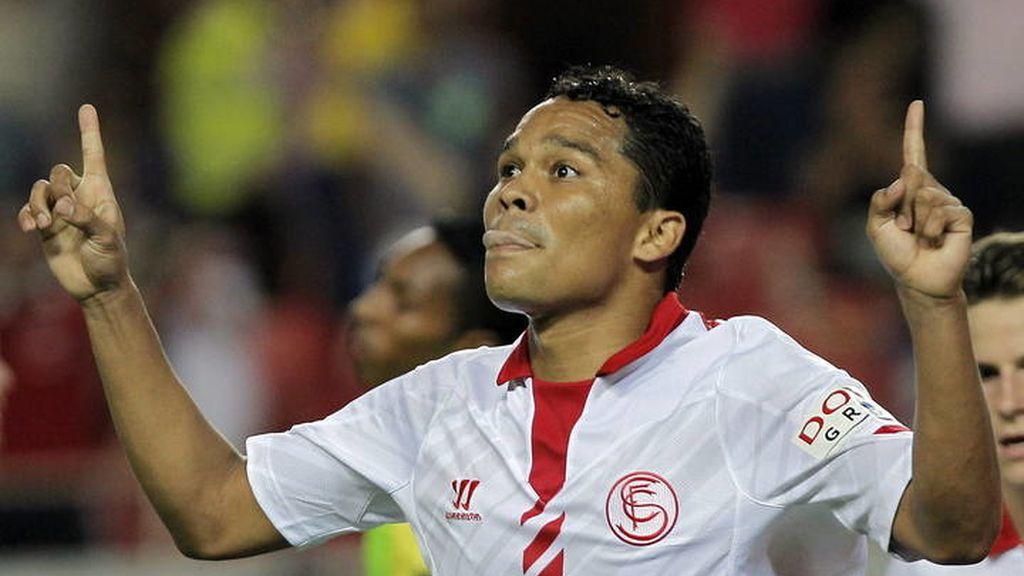 Bacca celebra el gol ante el Rayo