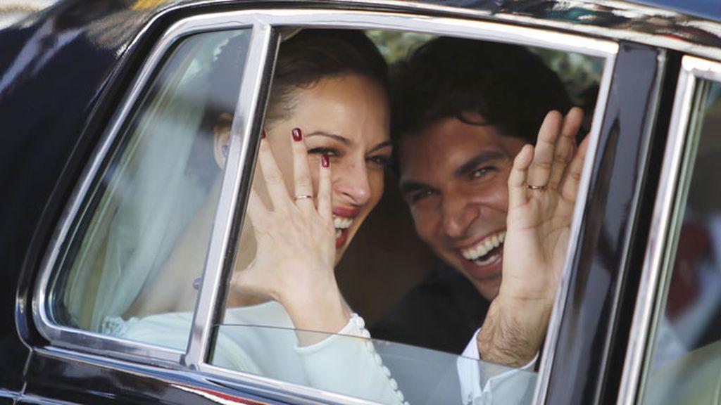 La pareja se ha mostrado muy cercana a la salida de la iglesia