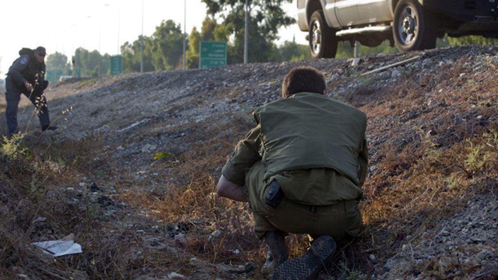 Fuerzas de seguridad israelíes en el sur de Gaza
