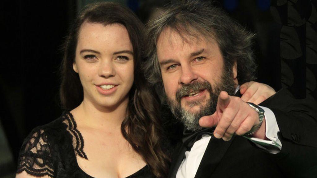 Peter Jackson con su hija Katie Jackson