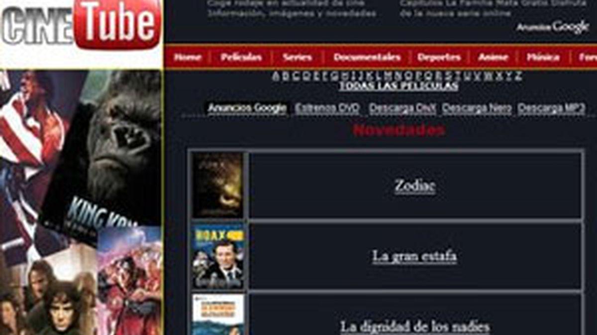 """La web """"ofrece únicamente accesos o links"""" a las películas, según establece el auto."""