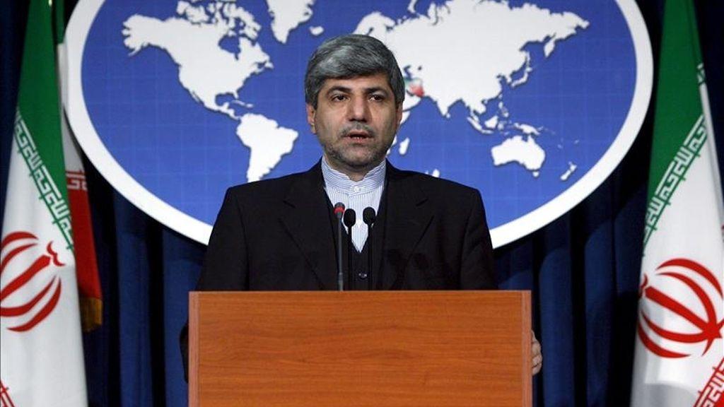 El portavoz del ministerio iraní de Asuntos Exteriores, Ramin Mehmanparast. EFE/Archivo