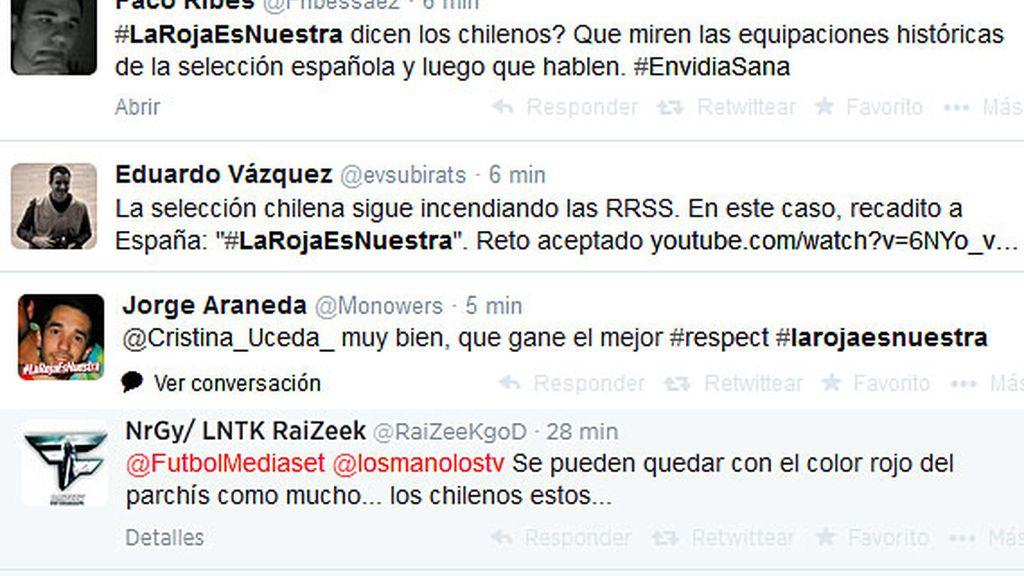 Tuits #LaRojaEsNuestra