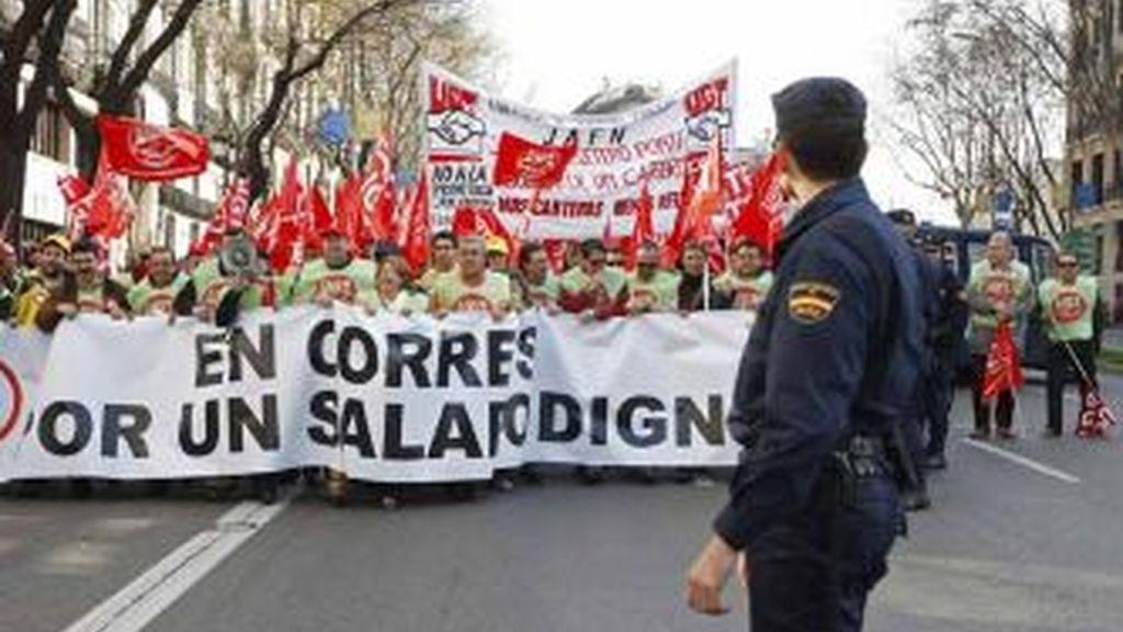 Imagen de una manifestacion de funcionarios. EFE