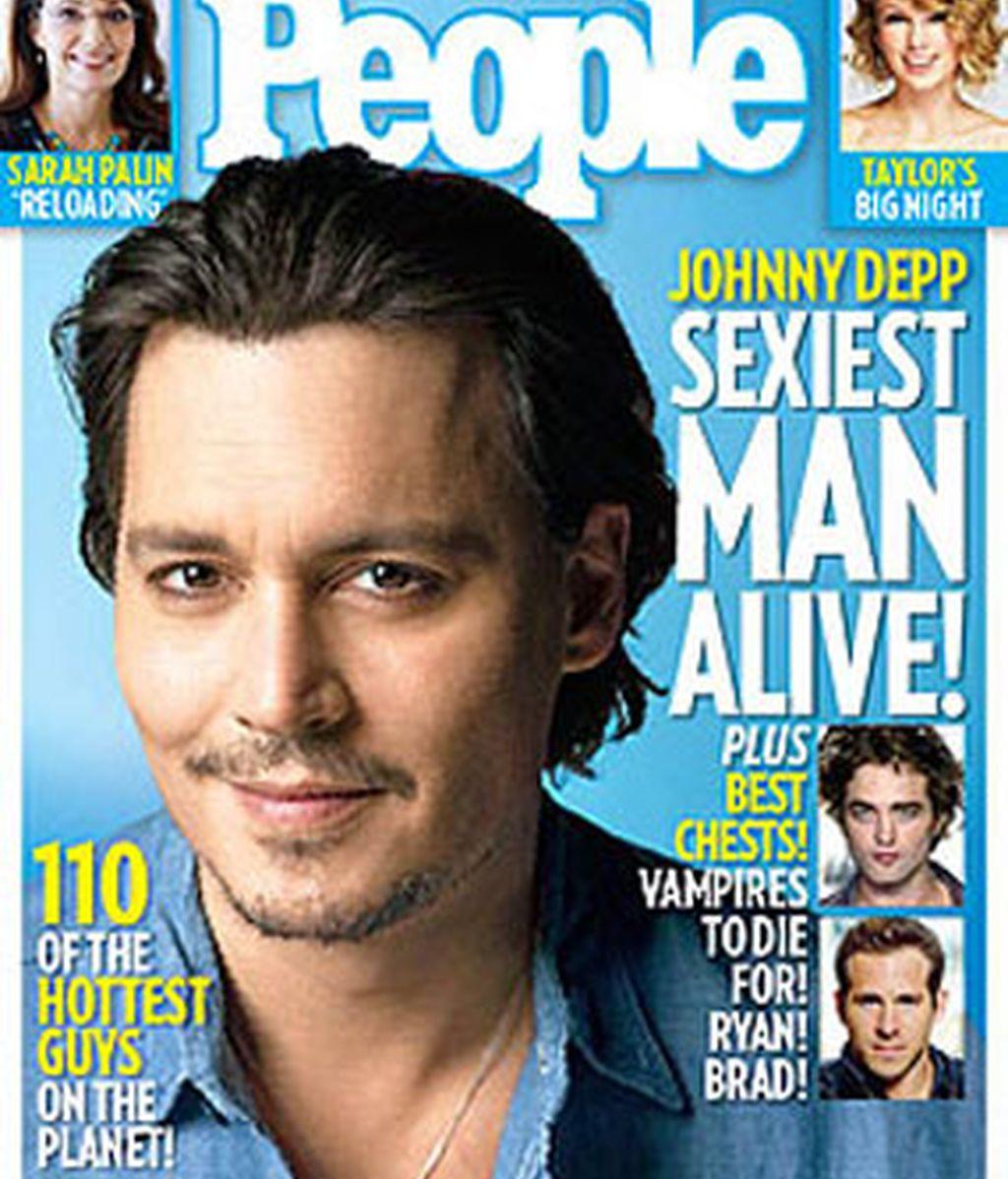 Johnny Depp, el más sexy del año, según la lista elaborada por la revista People.
