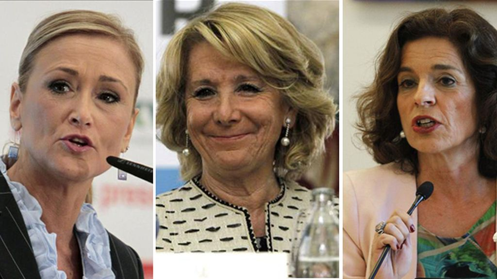 Cristina Cifuentes, Esperanza Aguirre y Ana Botella