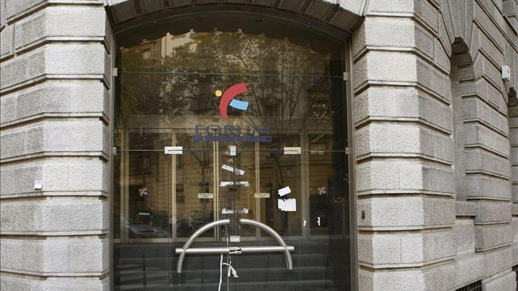 Fotografía de archivo del exterior de la sede de Fórum Filatélico situada en Madrid. EFE/Archivo