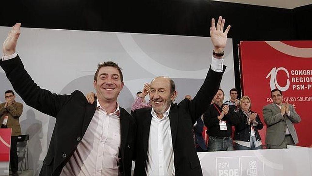 Alfredo Pérez Rubalcaba y Roberto Jiménez