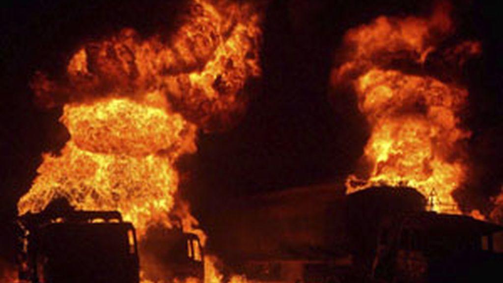 La misión de la OTAN en Afganistán tiene sus principales bases en Pakistán y sufre ataques de este tipo regularmente FOTO:EFE