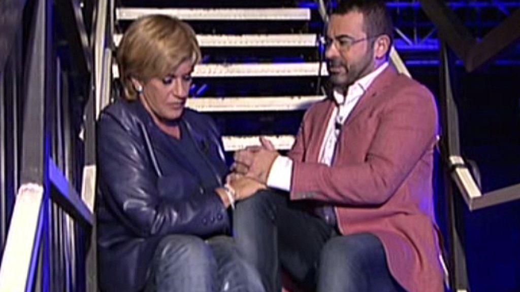 La colaboradora se confiesa con Jorge Javier Vázquez