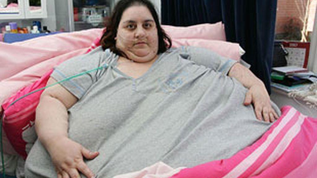 Imagen de archivo de Sharon Mevsimler, que llegó a pesar más de 260 kilos. Foto: The Sun.