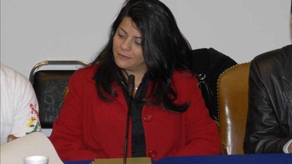 Imagen de archivo de la presidenta de la CIDH, la venezolana Luz Patricia Mejía. EFE/Archivo