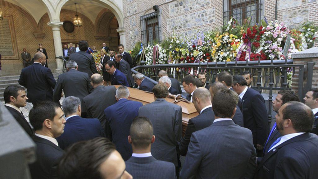 Funeral de Isidoro Álvarez, presidente de El Corte Inglés, en la iglesia de San Ginés
