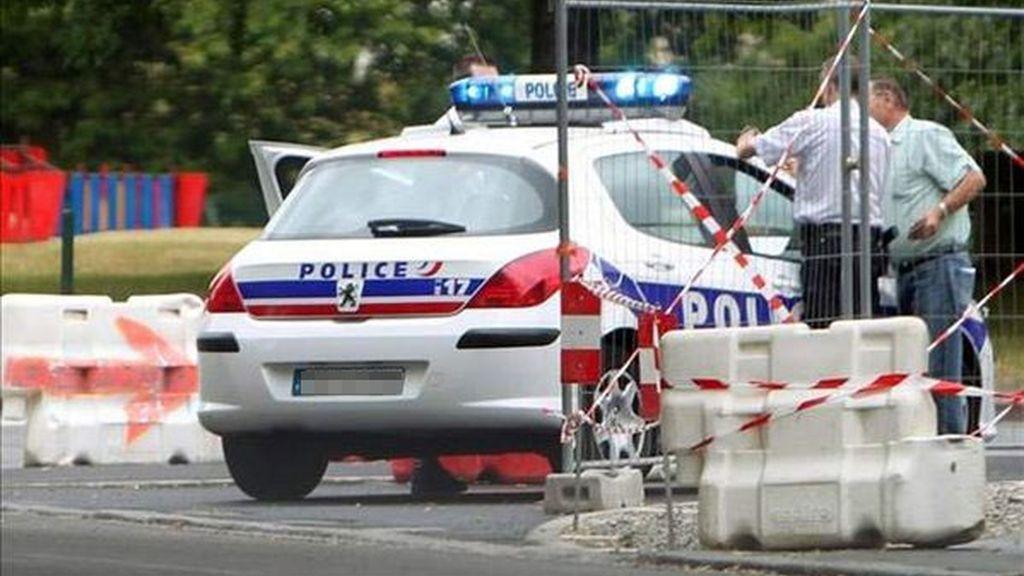 Imagen de archivo de un coche de la policía francesa