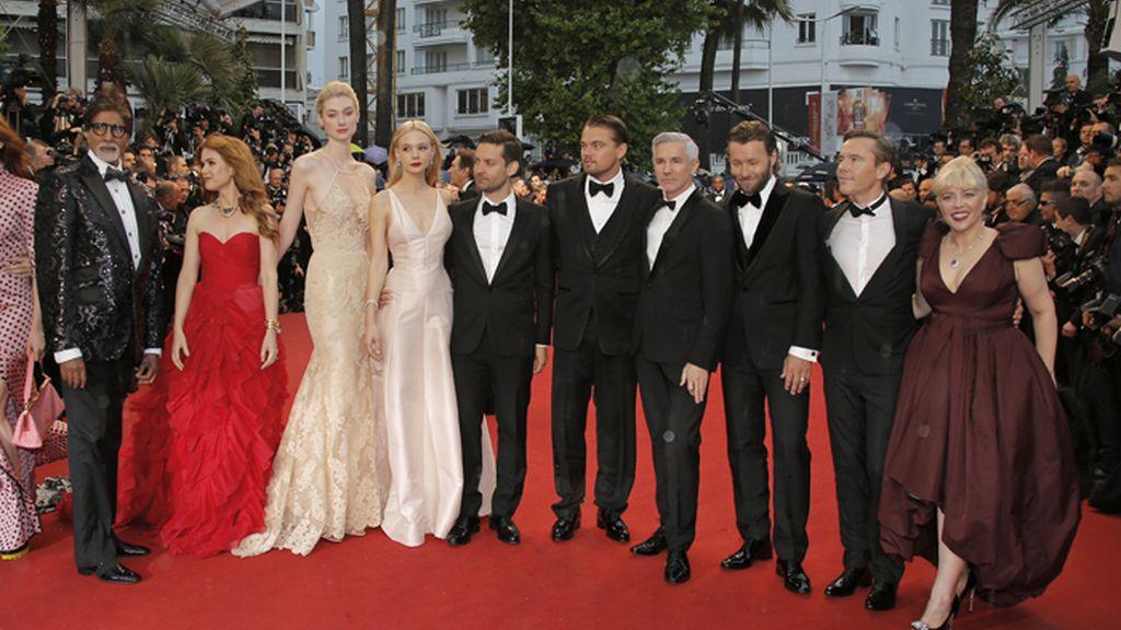 Los protagonistas de El Gran Gatsby posan en la alfombra roja de Cannes