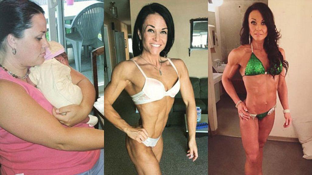 Una madre de tres hijos se recupera de la anorexia gracias al culturismo
