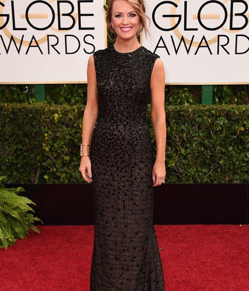 Brooke Anderson en la alfombra roja de los Globos de Oro