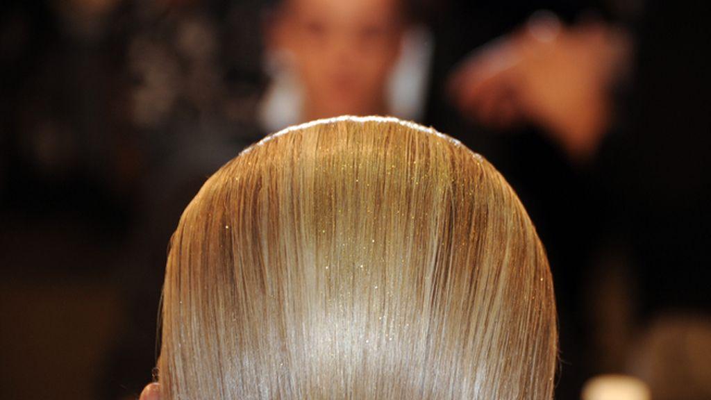 Los peluqueros hicieron un brillante trabajo en el alisado de las melenas de los modelos.